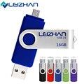 Leizhan nuevos cinco colores teléfono inteligente otg usb flash disk USB 2.0 4G 8G 16G 32G 64G del Flash del USB Pen Drive de Memoria palo