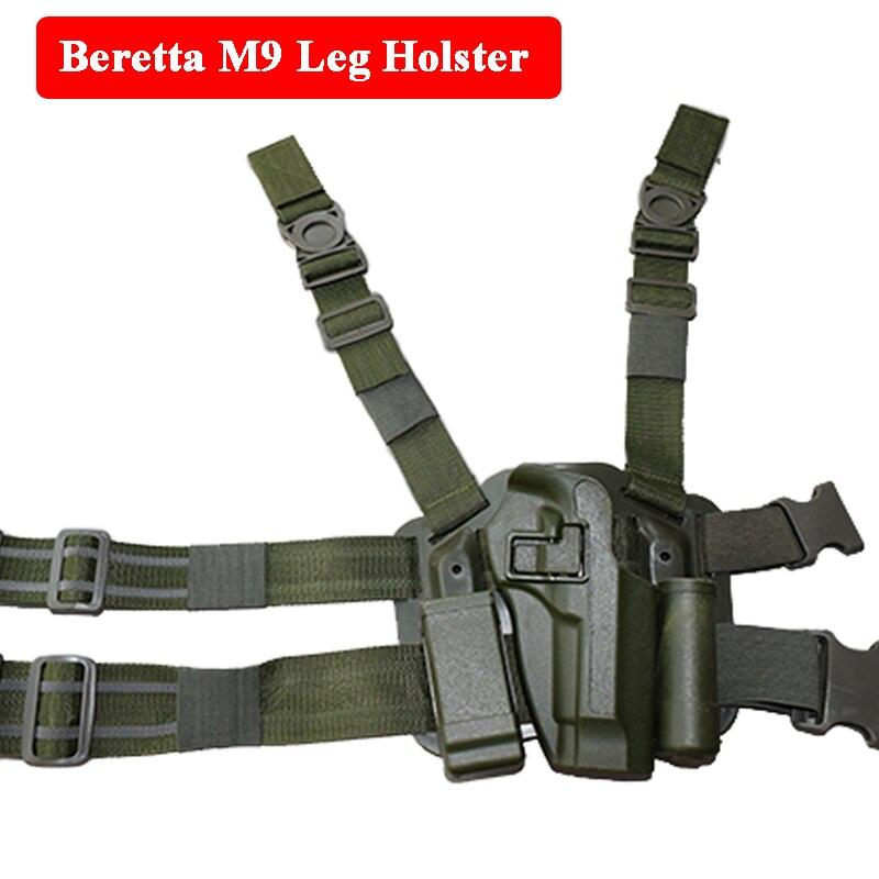 Airsoftsport Tactical Leg Holster Para Beretta M9 92 96 Pistola Pistola RH Coldre Na Coxa de Caça Ao Ar Livre Paintball Acessorios