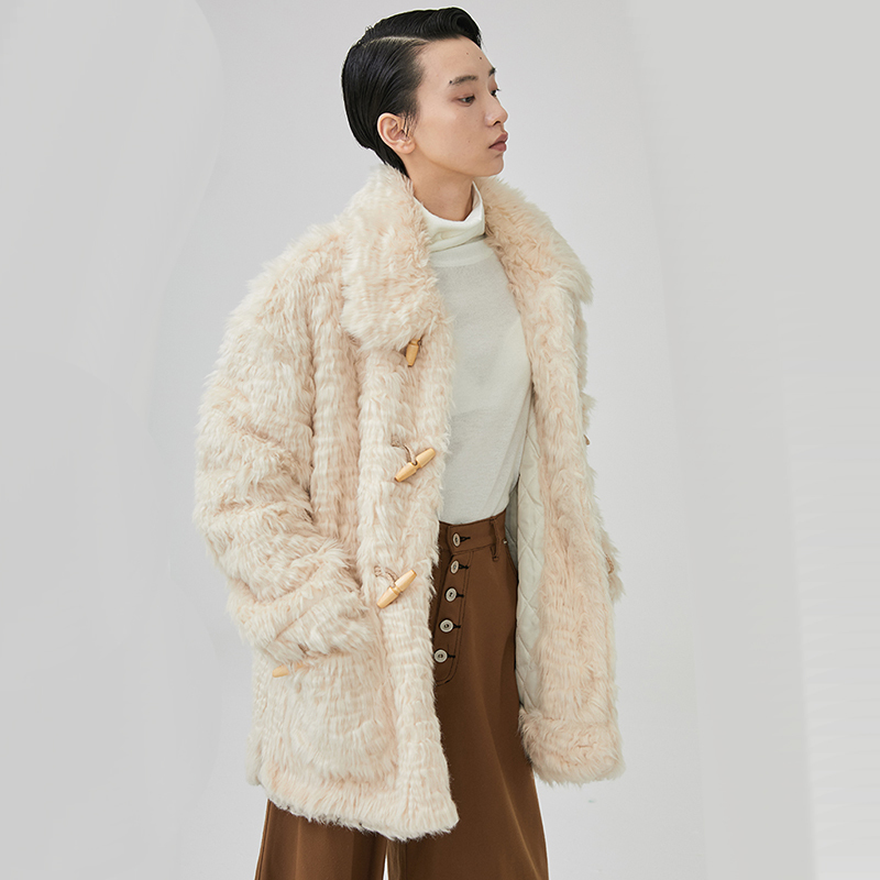 eam Ji860 D'agneau 2019 Manteau Parkas Chaud Revers Nouveau Corne En rembourré Boucle Printemps Mode Laine Coton Longues Épais Manches Femmes 11qrwCH