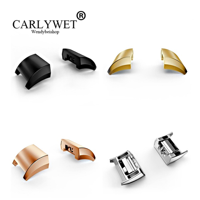 CARLYWET Silver Black Gold Rose Gold Stainless Steel Adapter Connector For Fitbi