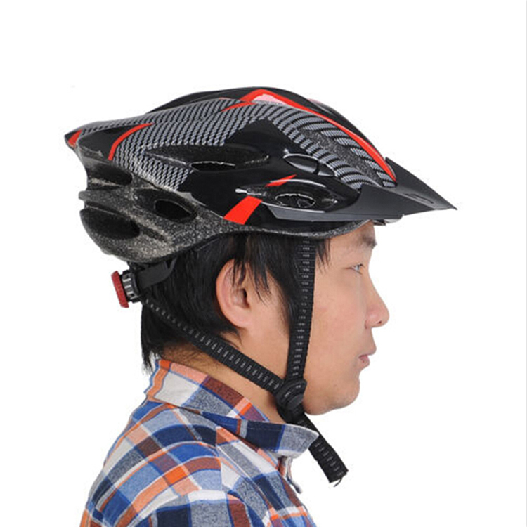 Bike Cycling Helmet Professional Bicycle Racing Safety Helmet Adult Mens Bike  Helmet Carbon Fiber Red Blue With Visor Mountain-in Bicycle Helmet from  Sports ... 0d39ff9aca
