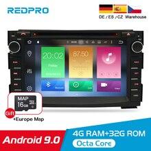 RAM 4G Android 9.0 Máy Nghe Nhạc Đa Phương Tiện Âm Thanh Stereo Cho Xe Kia Ceed 2010 2011 2012 Wifi RDS DVD 2 DIN Video Đài Phát Thanh ĐỒNG HỒ Định VỊ GPS