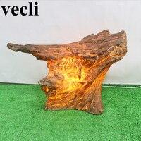 Tree stump imitation lampade giardino outdoor lights for corridor lawn balcony gateway deco exterieur jardin