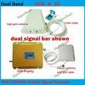 CONJUNTO COMPLETO LCD REFORÇO! alto ganho de banda Dupla 2G, 3G KIT de reforço de sinal GSM 900 3G 2100 repetidor DE SINAL amplificador dupla barra de sinal