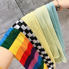 Pink stretch cold sleeve summer sun sleeves beautiful girl cute armband sleeves women manga