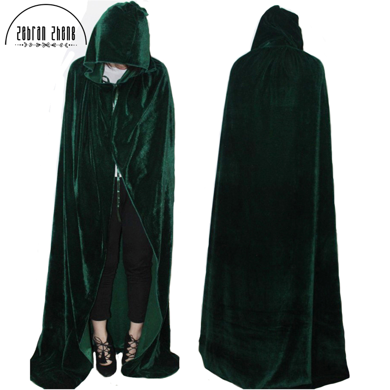 Newest Style For Adult Women Men Witch Long Purple Green Red Black Blue Cosplay Cloaks Hood and Capes Halloween Party Costumes