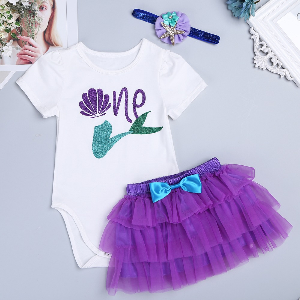 05b014bb8582 Baby Girl Romper My First Birthday 1st Summer Girls Clothing Sets Newborn  Baby Clothes Cute Baby Jumpsuits Infant Girls Clothing