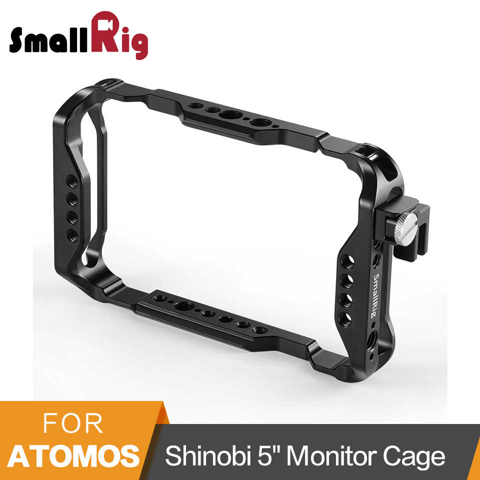 Jaula SmallRig para Atomos Shinobi de 5 pulgadas para Monitor AtomX Shinobi con carril Nato/orificio de localización Arri/abrazadera de Cable HDMI-2305