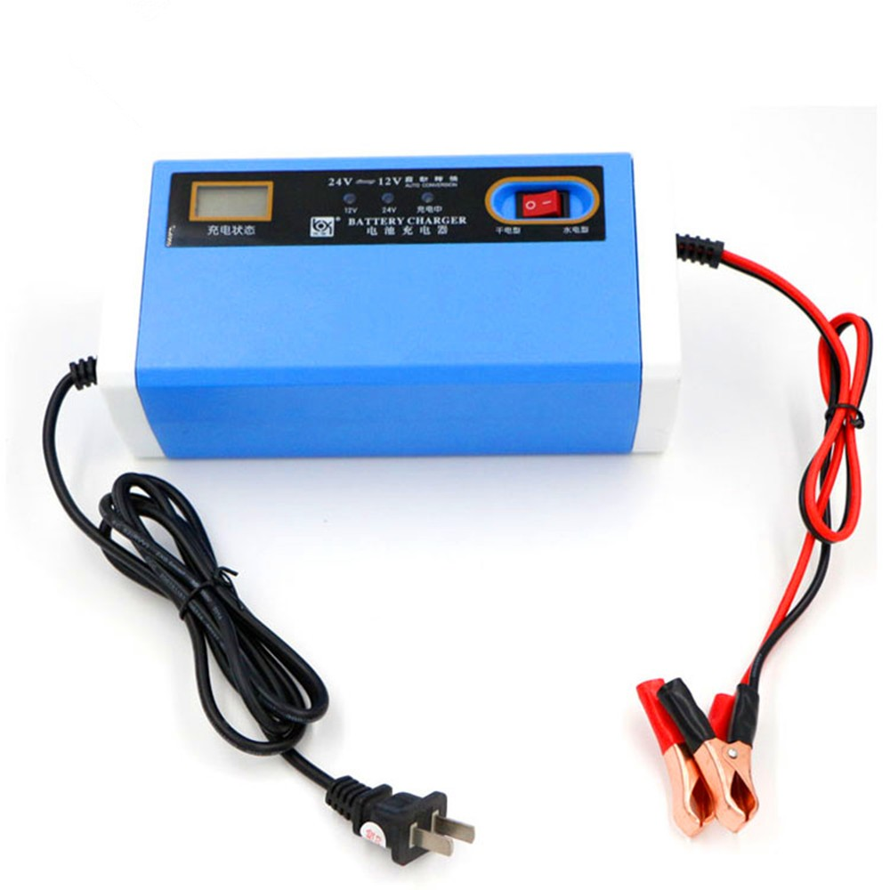 12v 24v motorcycle charger car auto battery charger 10a