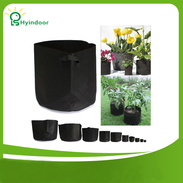5 Gallon Round Fabric Pots Plant Pouch Grow Bags For Plants Aeration Pot Container 10 Pieces