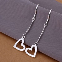 fashion jewelry Earring For Women, Silver Plated Earrings Heart Earrings E063 /VLYIDDCL GDGMMXJO