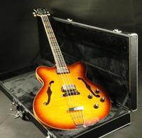Высокое качество полу полые корпус для электрической бас гитары гитара клена топ и задней шеи 5 шт эбони