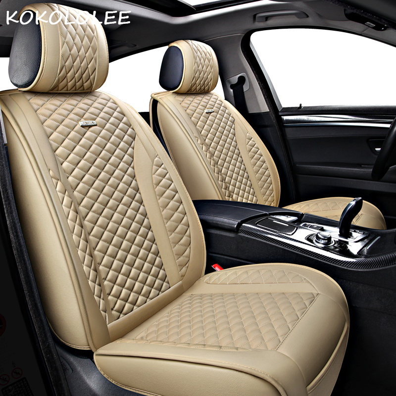 kokololee car seat cover for Lincoln MKC Seat Covers Cars Seat Cushion Protector PU Leather car seats styling auto accessories