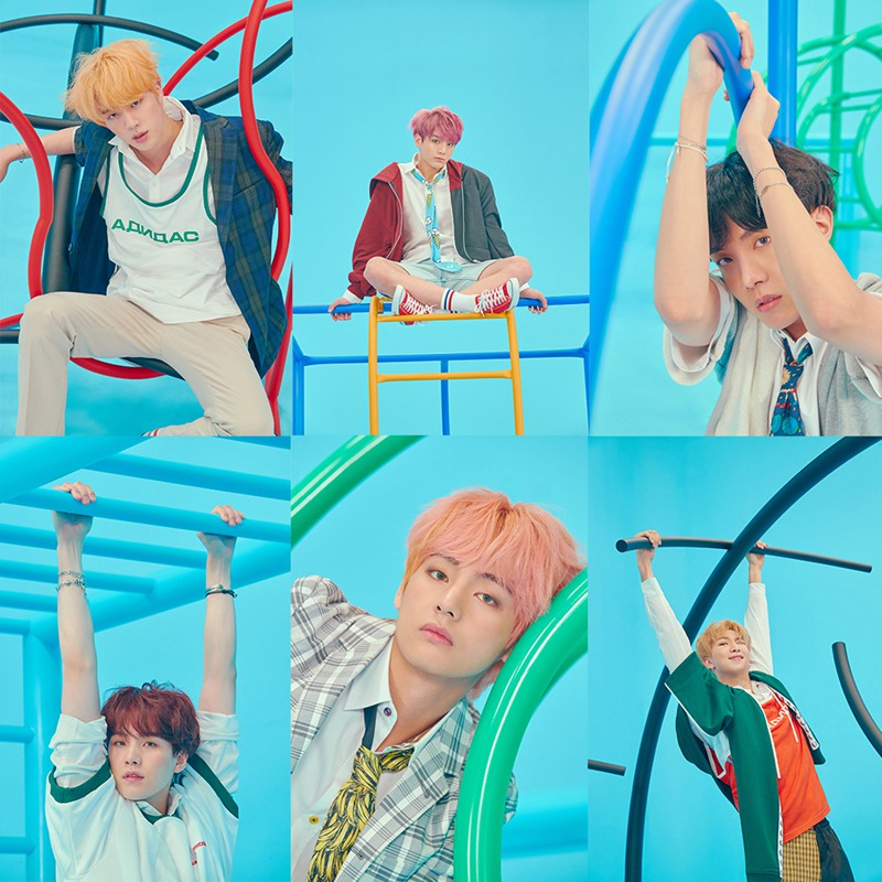 kpop bangtan Poster Clear Image Wall Stickers Home Decoration New Album Love Yourself Answer Prints White Kraft paper Home Art image