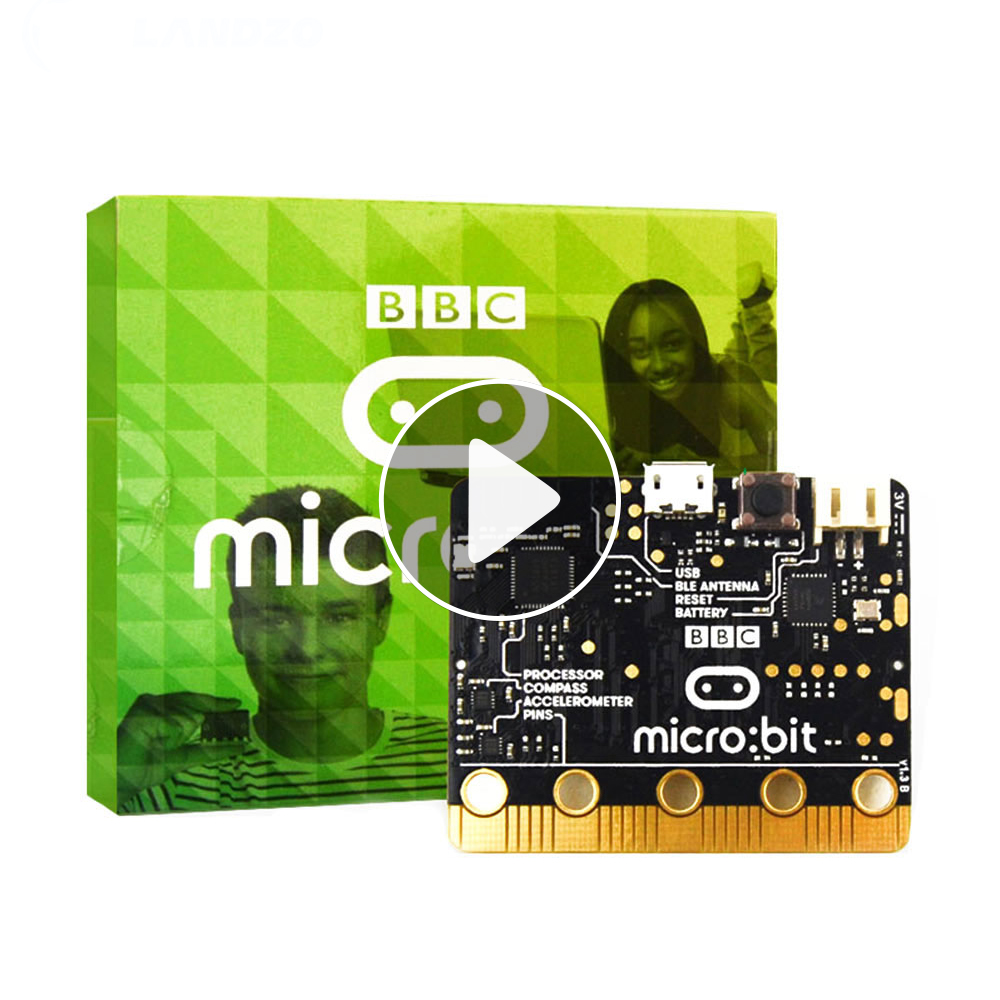 BBC Micro:bit NRF51822 Bluetooth ARM Cortex-M0,25 LED Light.A Computer For Kids Beginners To Programming,support Windows,iOS Etc