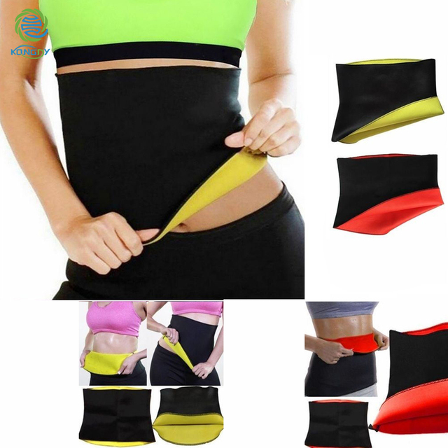 KONGDY Slimming Shaper Belt Neoprene Abdominal Fat burning Weight Loss Band Sweat Sauna Hot Waist Trainer Corset Body Sculpting