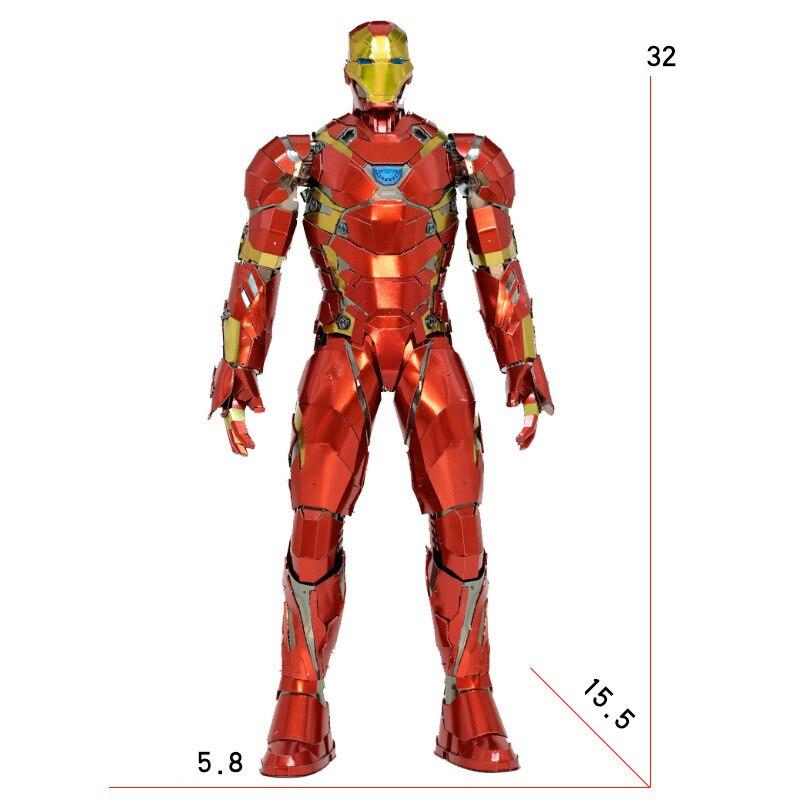 カスタマイズされたビッグサイズアイアンマン 3D 金属モデルキット組み立てる Diy パズルジグソーパズル建物のおもちゃギフト  グループ上の おもちゃ & ホビー からの モデル構築キット の中 2