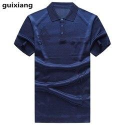 2019 zomer nieuwe stijl mannen casual mode zijde korte mouwen Polo shirts Mannen van hoge kwaliteit 100% zijde zaken polo shirt mannen