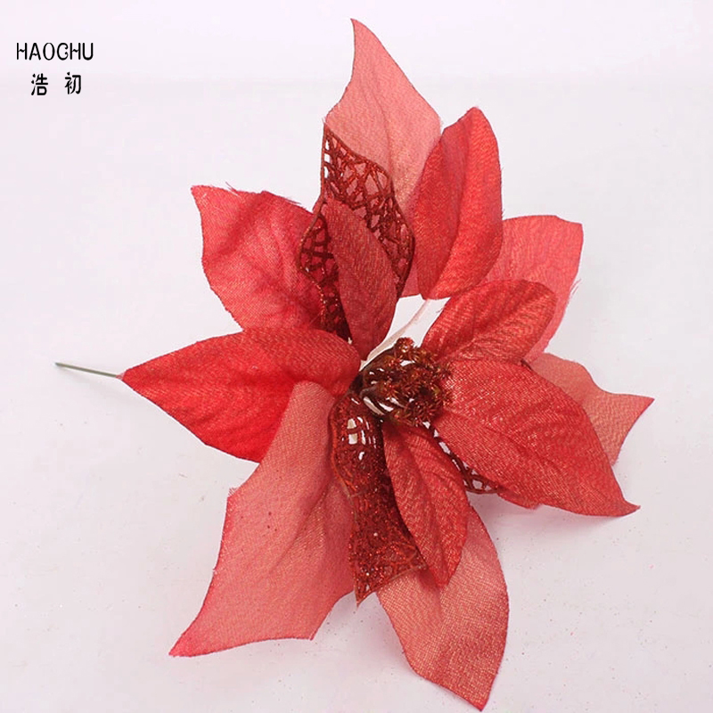 HAOCHU Merry Christmas 8 quot 20cm Christmas Decorations for Artificial Flowers Natal Navidad Tree Topper Ornament Home Decoration in Tree Toppers from Home amp Garden