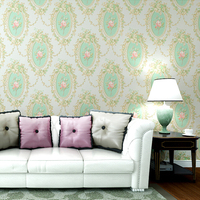 Papel de parede 3d wallpaper rolls for living room embossed Mirror non woven pastoral flower wallcoverings bedroom wall paper