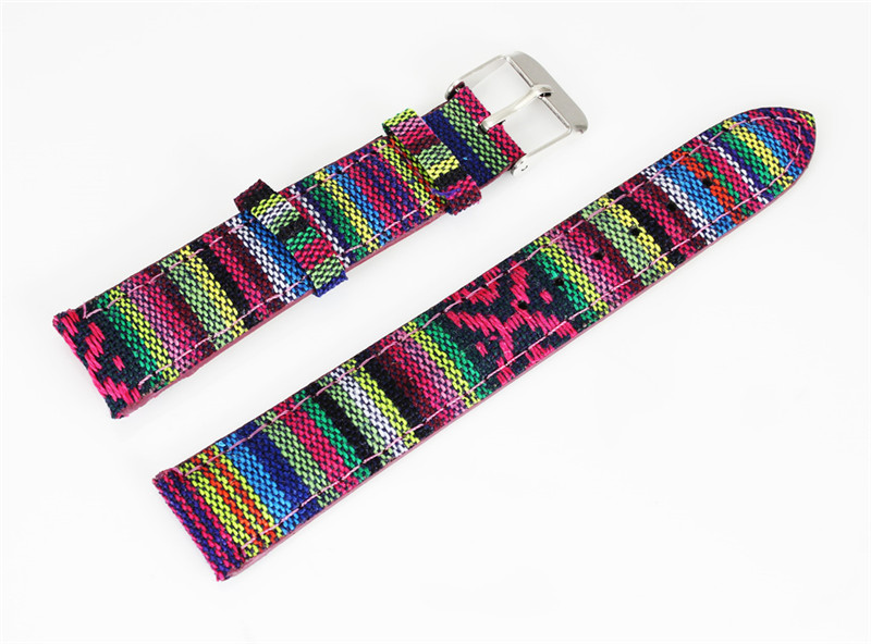 лучшая цена 2018 Good Quality Watch Strap Nylon Colorful band for wristwatch