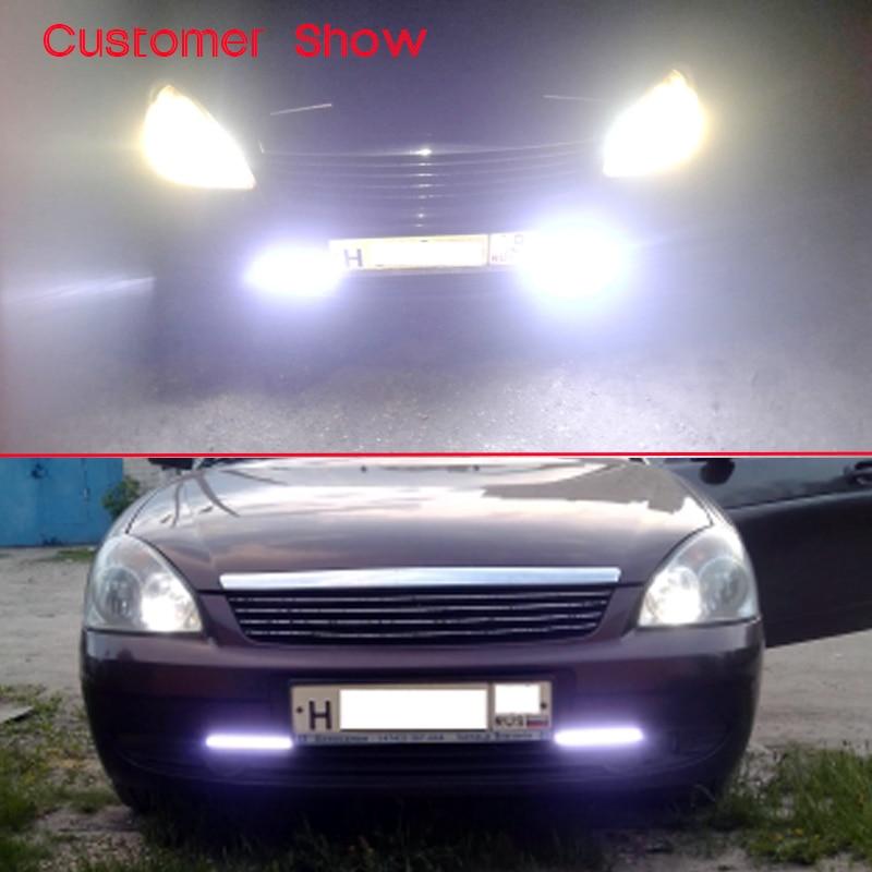 2 copë / palë HAUSNN COB gjatë ditës Drejtimin e dritës së - Dritat e makinave - Foto 5