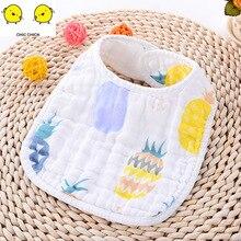 Cotton Bandana Bibs Baby Feeding Burp Cloths Cartoon Saliva Towel Eating Accessory Soft Stuff
