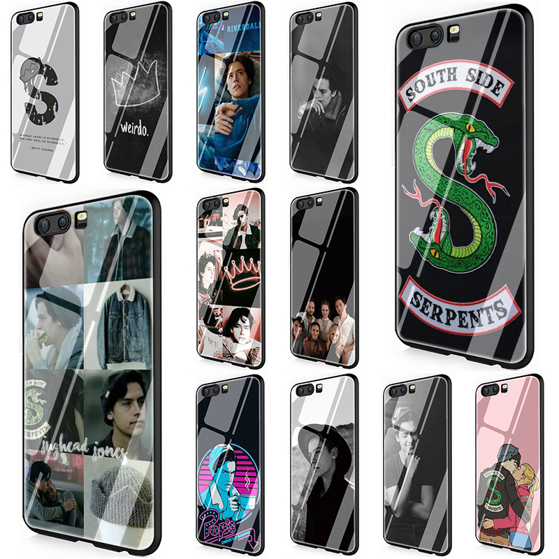 American TV <font><b>Riverdale</b></font> Jughead Jones Tempered Glass phone <font><b>case</b></font> for <font><b>Huawei</b></font> 7A 8X 9 <font><b>10</b></font> P10 P20 P30 <font><b>Mate</b></font> 20 <font><b>Lite</b></font> Pro Y6 Y9 P Smart image
