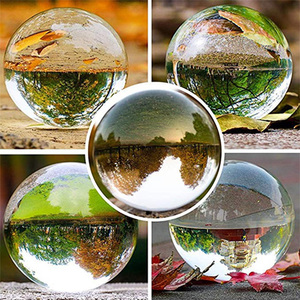 Image 5 - Globe K9 Clear Chandelier Lens Ball Crystal Glass Ball Crystal Ball Stand For Sphere Photography Decoration Home Decorative ball