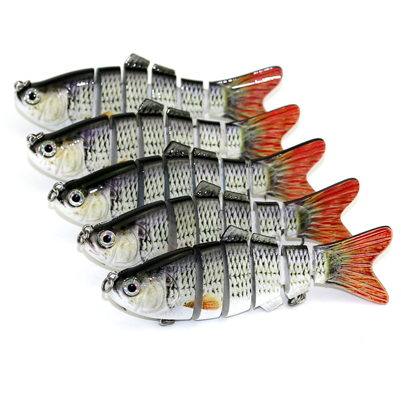 6psc  Laser Paint Lures 3D Eyes Lifelike Fishing Lures Jointed Sections Swim Bait Hard Bait Isca Artificial Lures Fishing Tackle 1pcs lifelike 8 5g 9 5cm minow wobblers hard fishing tackle swim bait crank bait bass fishing lures 6 colors fishing tackle