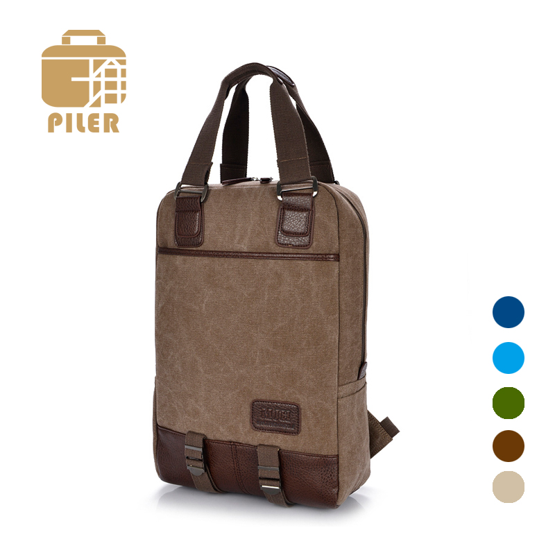Piler Travel Canvas Backpack Vintage School Bags Solid Color Backpack 2017  Men Casual Backpacks High Quality Small Backpacks Bag-in Backpacks from  Luggage ... 4b2fb862596e8