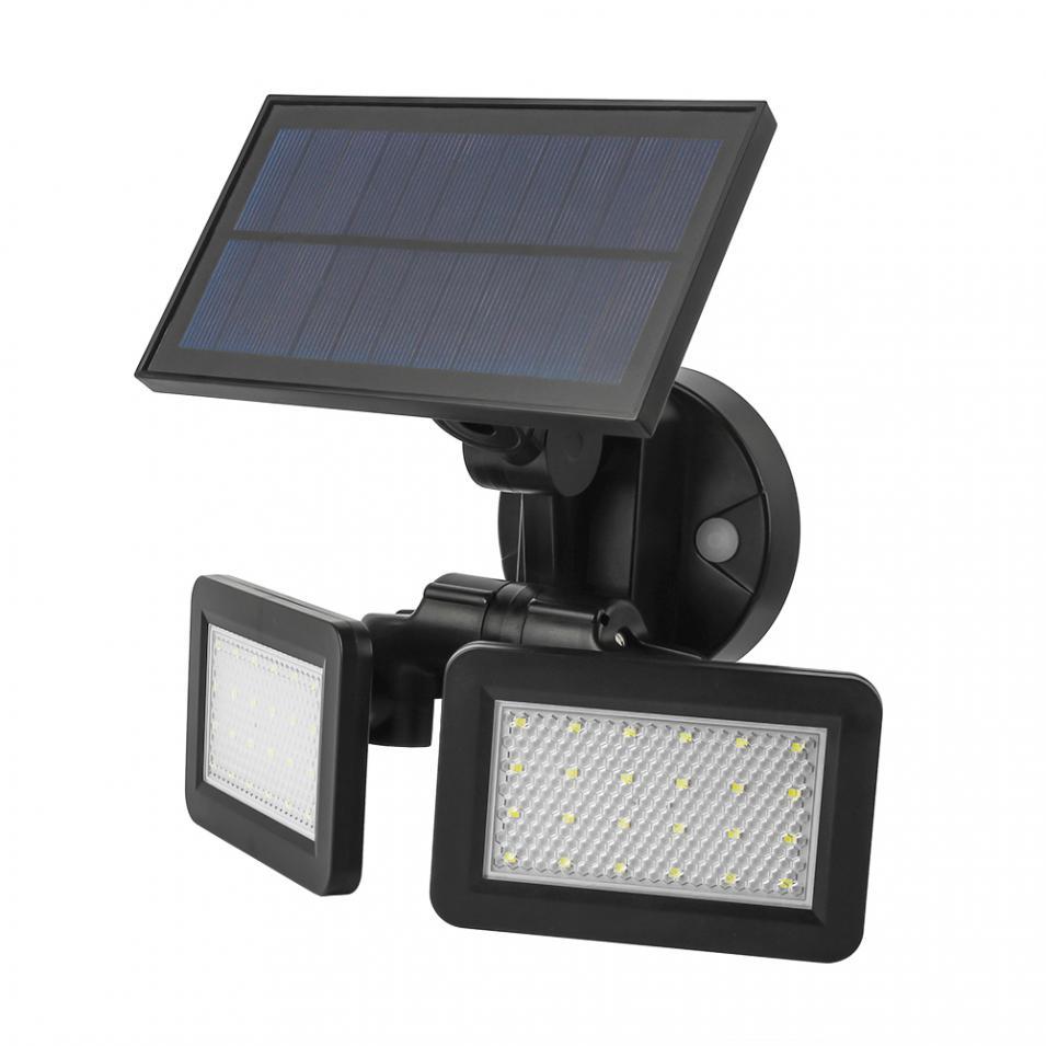 48 leds solar luz de rua radar 02