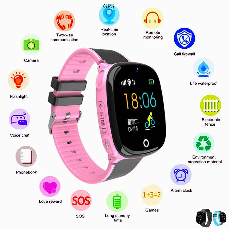 Holding Baby Girl Safe Kids Smart Watch Camera GPS Tracker SOS GSM Sim Card Call Wrist Bracelet Smartwatch Turkish Digital-watch