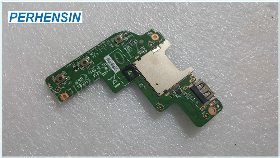 все цены на Original Genuine laptop FOR MSI FOR GE72 GE72-003US Series USB Card Reader Media Button Board MS-16J12 VER 1.0 онлайн