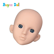 1pcs 3D Real Eyes Plastic DIY Doll Head 1/4 BJD Doll Body Accessories Without Make Up Toy Cosplay Doll For Girls Kid Toys plastic doll series 3 newest dress up doll with clothes accessories bottle without ball