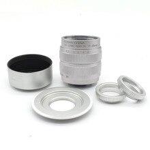 Фуцзянь 35 мм F1.7 CCTV телефильме объектив + крепление + капюшон для Sony NEX и номер отслеживания серебро