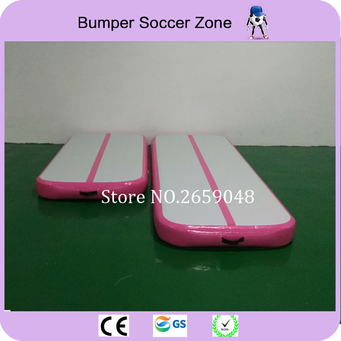 Trampoline gonflable rose de voie de dégringolade de 5*1*0.2 m matelas gonflable de gymnastique de voie d'air