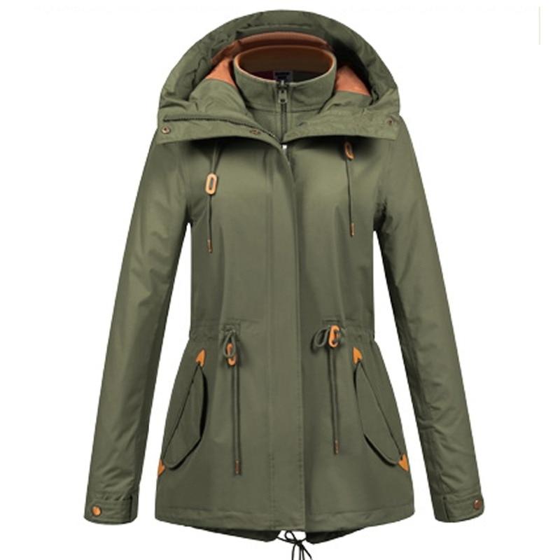 ZYNNEVA automne hiver manteau femmes 3 en 1 montagne Camping randonnée costume Ski coupe-vent vestes thermique imperméable vêtements GK1209 - 2