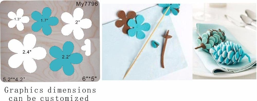 flower wood moulds die cut accessories wooden die Regola Acciaio Die Misura MY