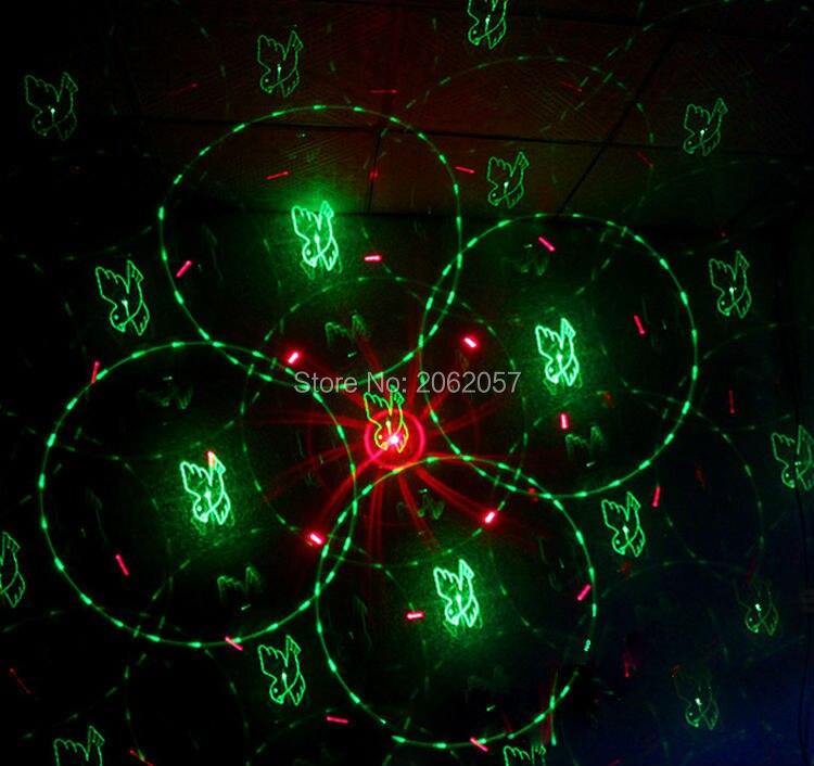 3 objektiv 48 Mönster RG LED fjärrlaser DJ DISCO ljus semesterfest - Kommersiell belysning - Foto 5