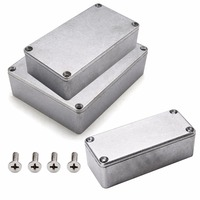 실버 알루미늄 인클로저 전자 다이 캐스트 stompbox 프로젝트 상자 크기 1590a 92x38x31mm/1590b 112x60x31mm/1590bb 120x95x35mm