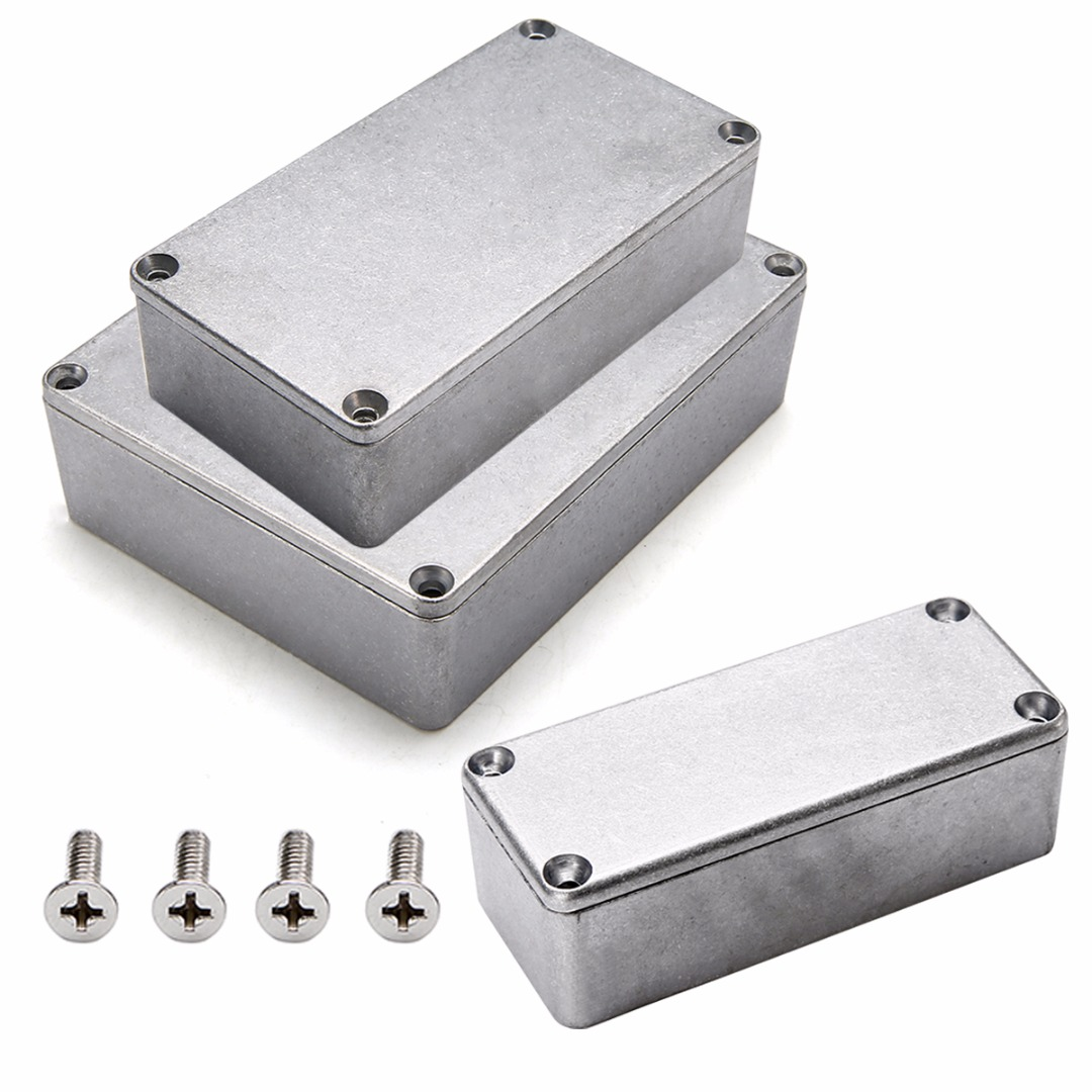 Silver Aluminium Enclosure Electronic Diecast Stompbox Project Box Sizes 1590A 92x38x31mm/1590B 112x60x31mm/1590BB 120x95x35mm