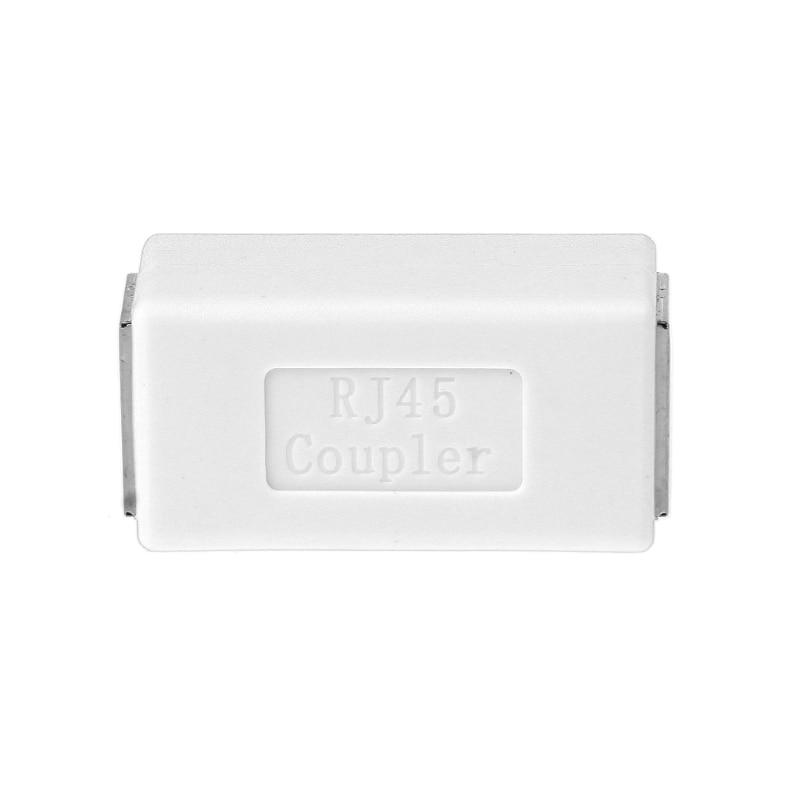 Белый RJ-45 инструменты Женский муфта Cat6 8P8C Ethernet Lan Сетевой Инструмент Расширение адаптер