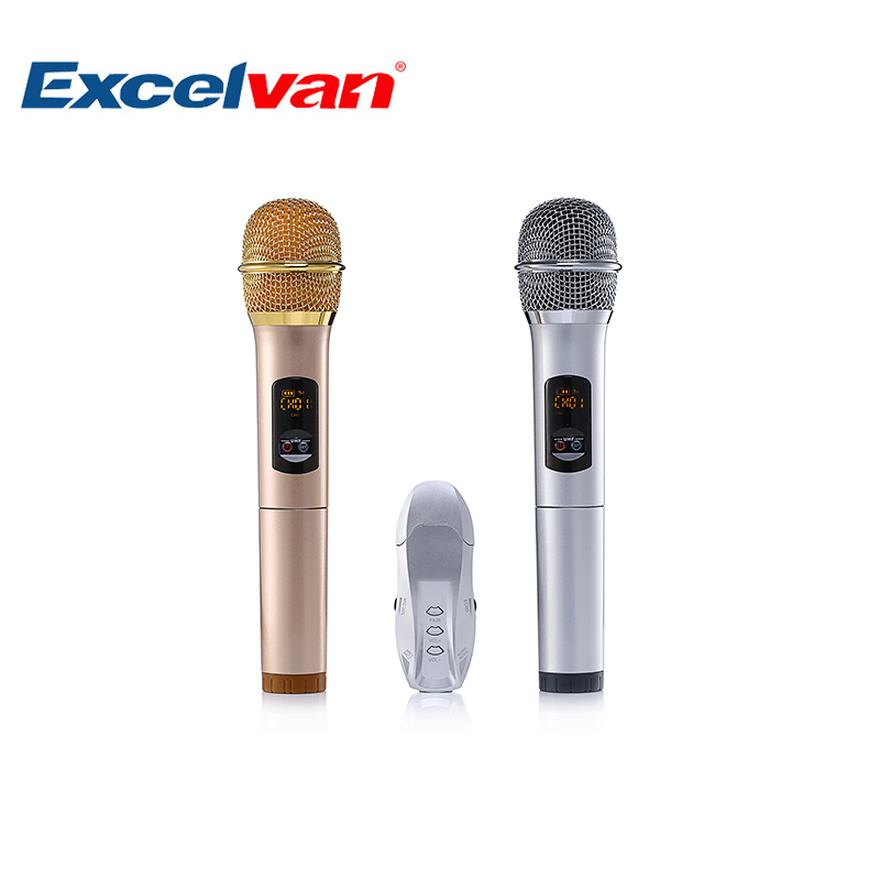 buy excelvan k18u professional bluetooth two handheld microphone with uhf. Black Bedroom Furniture Sets. Home Design Ideas