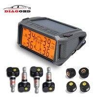 2018 Car TPMS Tire Pressure Sensor Monitoring System Solar Car Monitor TMPS Control Systems Alarm Tyre Pressure Internal Sensors