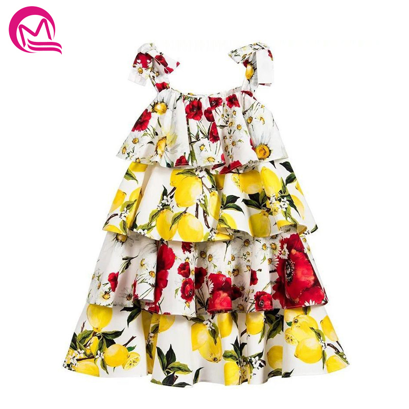 2018 New Arrival MQ Casual Style Baby Girls Dress Summer Patchwork Kids Clothes Beach Girls Dresses For Party And Wedding Hot