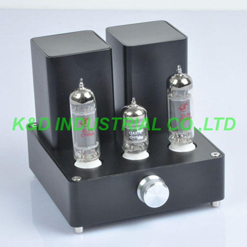 1pc Black Mini Vacuum Tube AMP Audio Amplifier APPJ EL84 12AX7B Class A power Amp in Electrical Plug from Consumer Electronics