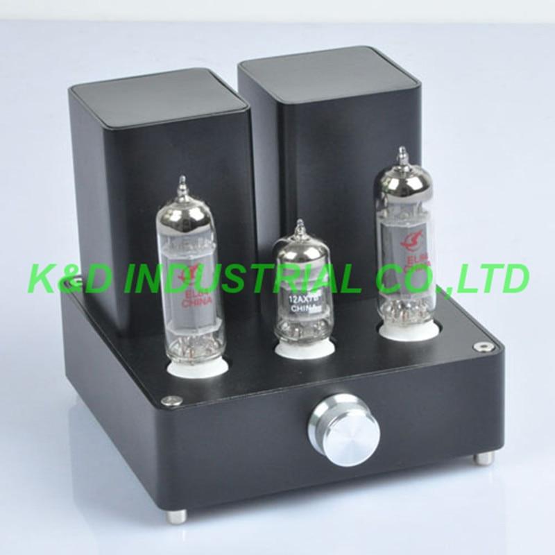 APPJ Mini 6N4 6P6P Headphone Tube Amplifier Class A Headset Tube AMP PA1502A 1PC