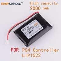 3.7 v 2000 mah bateria recarregável para sony dualshock 4 v1 v2 controlador sem fio playstation gamepad ps 4 controlador lip1522