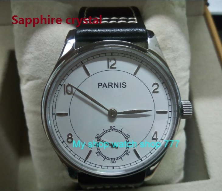 Sapphire crystal 44mm PARNIS Pilot Asian ST3621/6498 Mechanical Hand Wind movement Mechanical watches white dial men's watches 44mm parnis white dial asian 6498 3621 mechanical hand wind movement men s watch mechanical watches rnm9